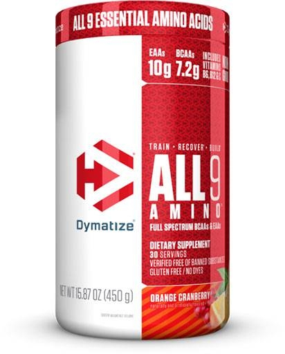 All 9 Amino By Dymatize, Orange Cranberry, 30 Servings