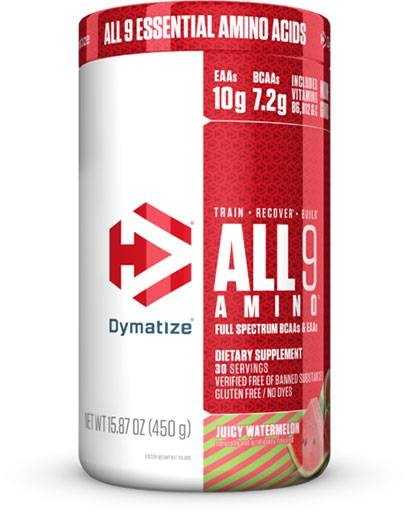 All 9 Amino By Dymatize, Juicy Watermelon, 30 Servings