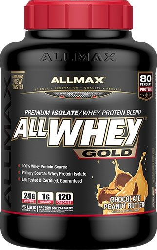 AllWhey Gold, By Allmax Nutrition, Peanut Butter Chocolate, 5lb