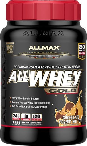 AllWhey Gold, By Allmax Nutrition, Peanut Butter Chocolate, 2lb
