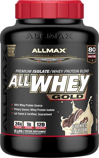 AllWhey Gold, By Allmax Nutrition, Cookies and Cream, 5lb
