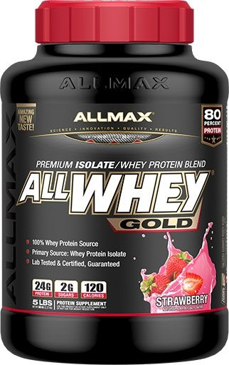 AllWhey Gold, By Allmax Nutrition, Strawberry, 5lb