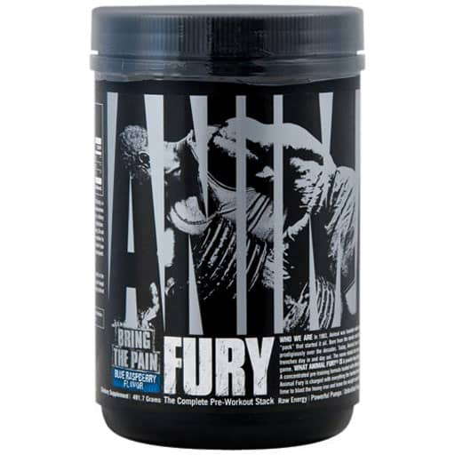 Animal Fury Pre Workout - Blue Raspberry - 30 Servings