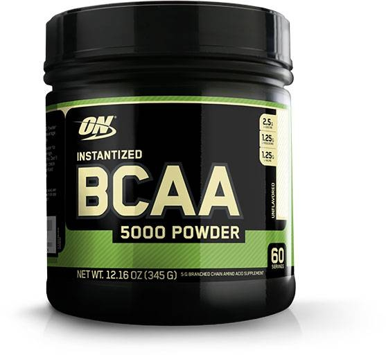 Instantized BCAA - 5000 mg - Unflavored - 60 Servings EXP 06/21