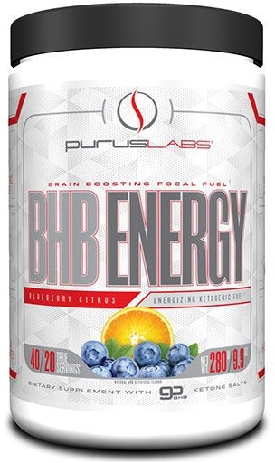 BHB Energy By Purus Labs, Blueberry Citrus, 40 Servings