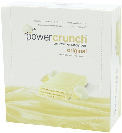 Power Crunch Bars By BNRG, French Vanilla Creme 12/Box