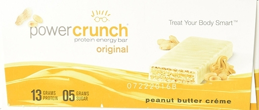 Power Crunch Bars By BNRG, Peanut Butter Creme 12/Box
