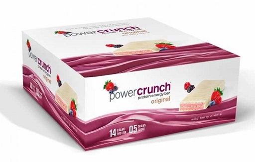 Power Crunch Bars By BNRG, Wild Berry Creme 12/Box