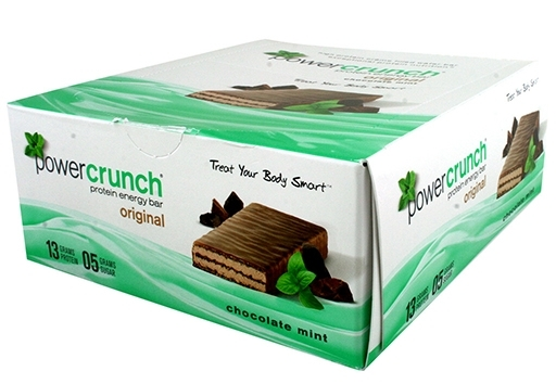 Power Crunch Bars By BNRG, Chocolate Mint 12/Box