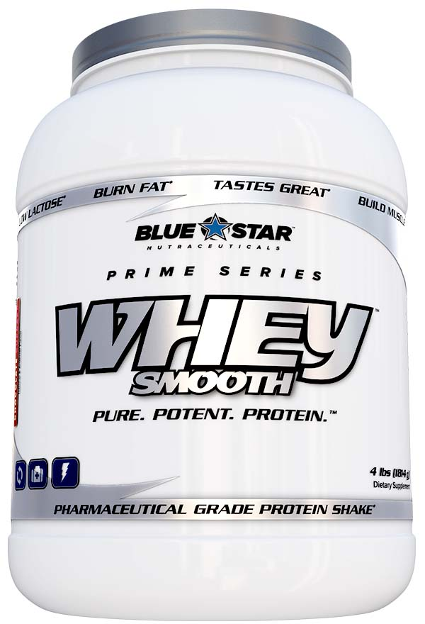 Whey Smooth Protein By Blue Star Nutraceuticals, Vanilla Cupcake 4lb