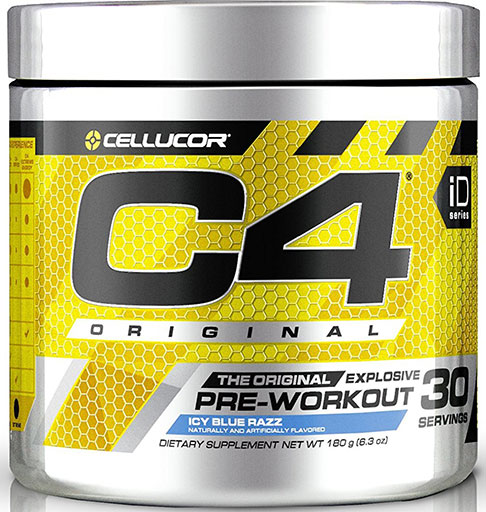 C4 By Cellucor, Original, Icy Blue Razz 30 Servings