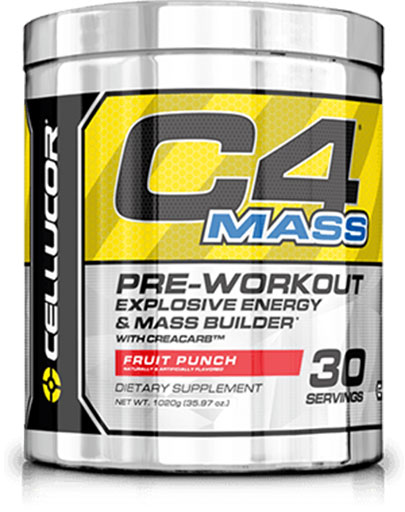 C4 Mass By Cellucor, Fruit Punch 30 Servings