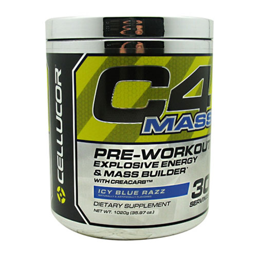C4 Mass By Cellucor, Icy Blue Razz 30 Servings