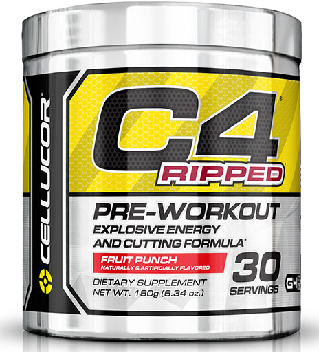 C4 Ripped By Cellucor, Fruit Punch 30 Servings