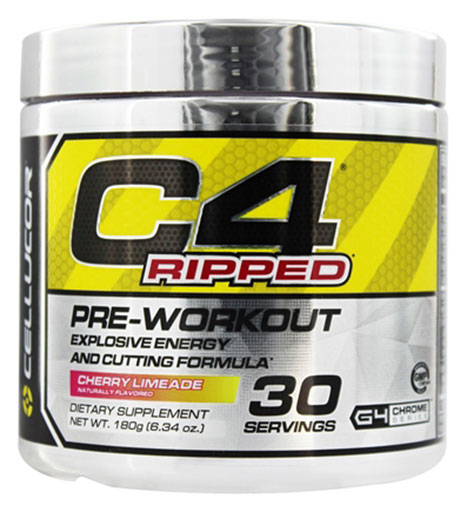 C4 Ripped By Cellucor, Cherry Limeade 30 Servings