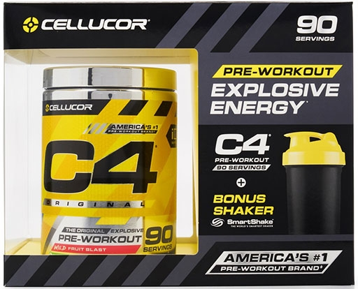 C4 By Cellucor, Original, Wild Fruit Blast, 90 Servings with Shaker