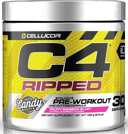 C4 Ripped By Cellucor, Fruity Rainbow Blast 30 Servings