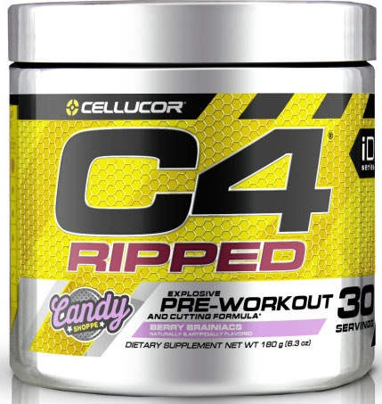 C4 Ripped By Cellucor, Berry Brainiacs 30 Servings