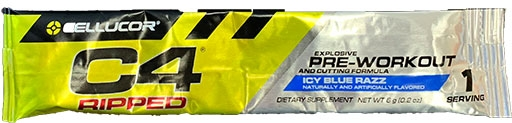 C4 Ripped By Cellucor, Icy Blue Razz, Sample Packet
