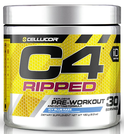 C4 Ripped By Cellucor, Icy Blue Razz, 30 Servings