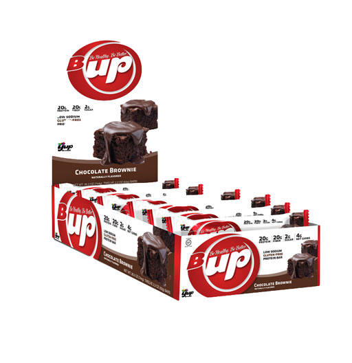 B-UP Protein Bars, By YUP Brands, Chocolate Brownie, 12/Box