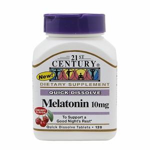 21st Century Melatonin 10 mg Quick Dissolve 120 Tabs