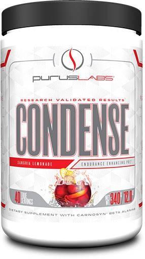 Purus Labs Condense Pre-Workout, Natural Sangria Lemonade, 40 Servings