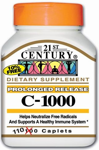 21st Century Vitamin C-1000 mg Prolonged Release 110 Tabs