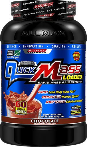 AllMax Nutrition QuickMass Loaded Chocolate 3.3lb Image
