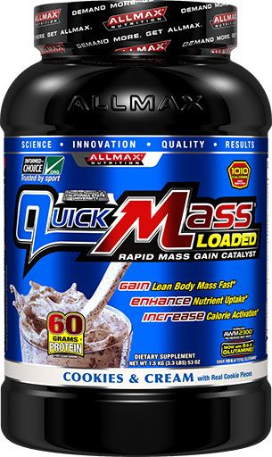 AllMax Nutrition QuickMass Loaded Cookies & Cream 3.3lb Image