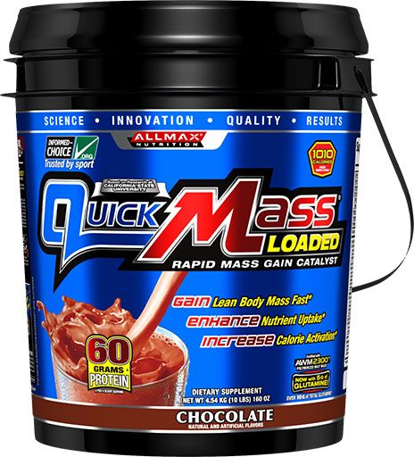 AllMax Nutrition QuickMass Loaded Chocolate 10lb Image