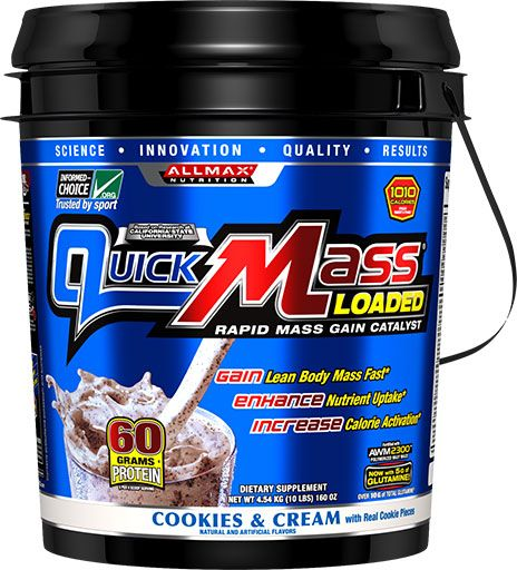 AllMax Nutrition QuickMass Loaded Cookies & Cream 10lb Image