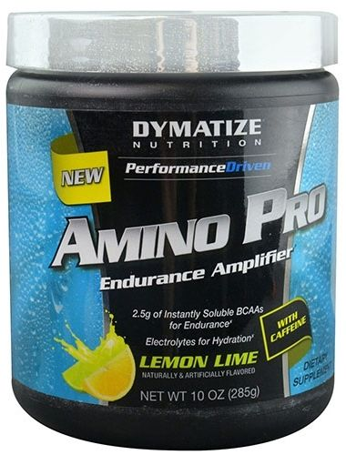 Amino Pro By Dymatize Nutrition, With Caffeine, Lemon Lime, 30 Servings