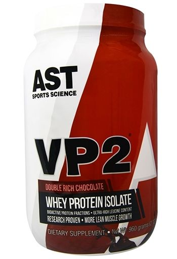 VP2 Whey Protein Isolate By AST Sports Science, Double Rich Chocolate 2lb