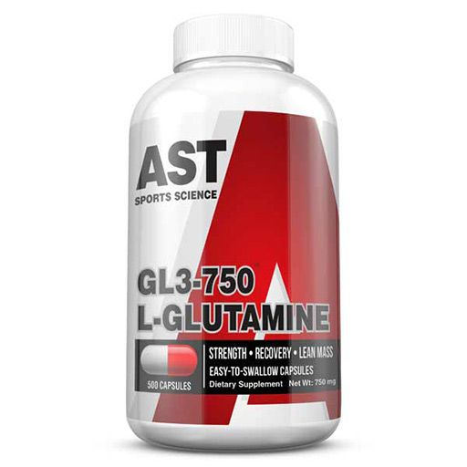 GL3 L-Glutamine By AST Sports Science, 750 mg 500 Caps