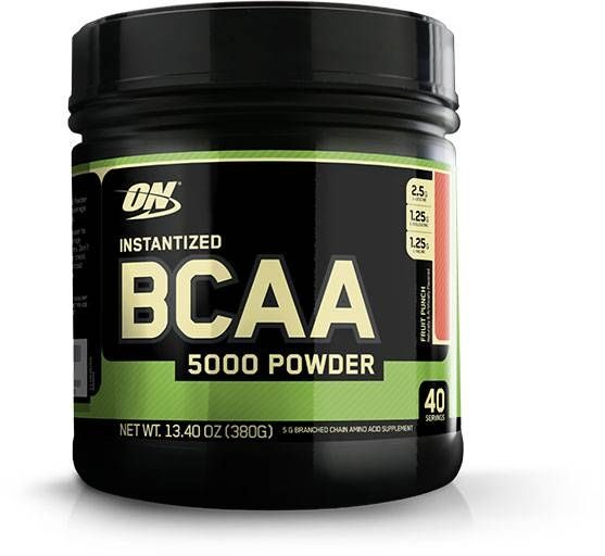 Instantized BCAA 5000 Powder, Optimum Nutrition, Fruit Punch, 40 Servings