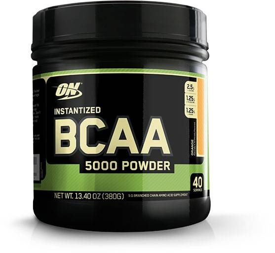 Instantized BCAA 5000 Powder, Optimum Nutrition, Orange, 40 Servings