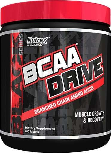 BCAA Drive Black By Nutrex, 200 Tabs
