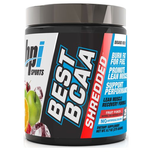Best BCAA Shredded By BPI Sports, Fruit Punch, 25 Servings