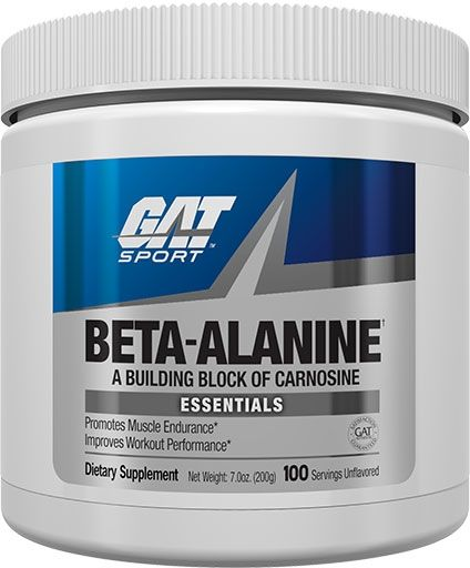 Beta Alanine, By GAT, Unflavored, 200 Grams