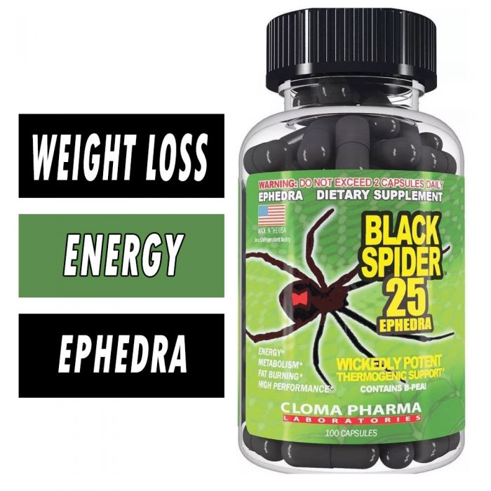Cloma Pharma Black Spider Fat Burner , 100 Caps