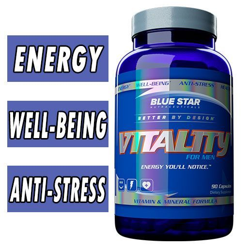 Vitality For Men By Blue Star Nutraceuticals, 90 Caps