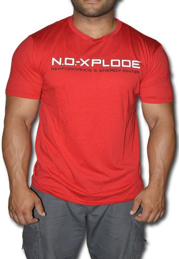 BSN, Red, N.O.-Xplode, Large, T-Shirt, Front Image