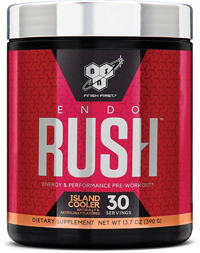 Endorush Pre Workout By BSN, Island Cooler, 30 Servings
