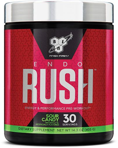 Endorush Pre Workout By BSN, Sour Candy, 30 Servings