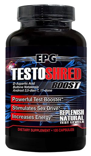 Testoshred Boost, By EPG, Powerful Test Booster, 120 Caps Image