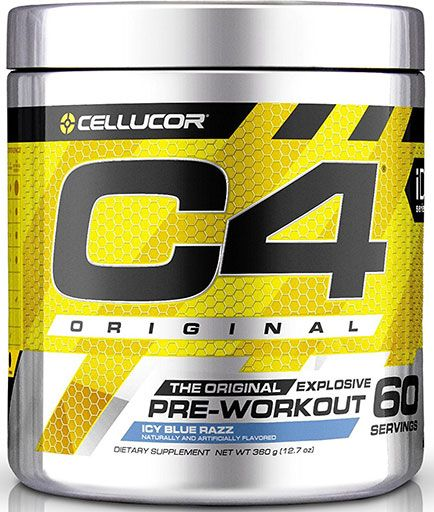 C4 By Cellucor, Original, Icy Blue Razz 60 Servings