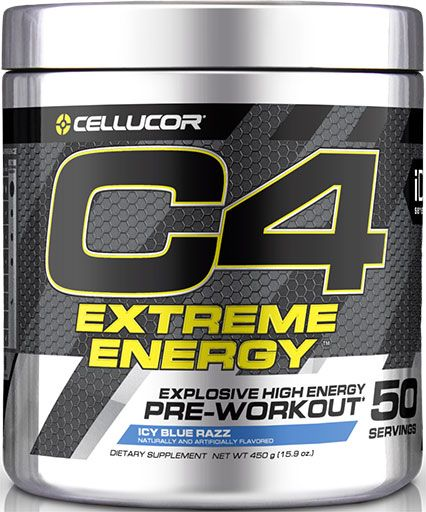 C4 Extreme Energy By Cellucor, Icy Blue Razz, 50 Servings