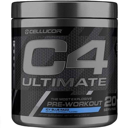 C4 Ultimate By Cellucor, Icy Blue Razz, 20 Servings