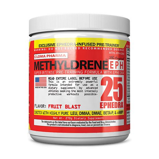 Cloma Pharma Methyl-drene EPH Fruit Blast 270 Grams Pre-Workout